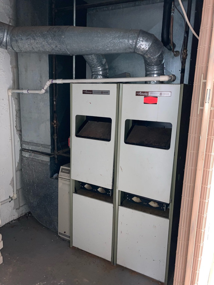 Replacement of Chrysler gas furnace and air conditioning system in Bridgewater.