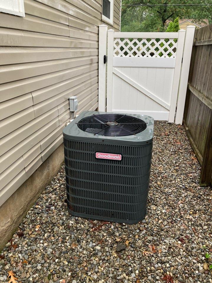 Metuchen, NJ - Replacement of Goodman central air conditioning system in Metuchen.