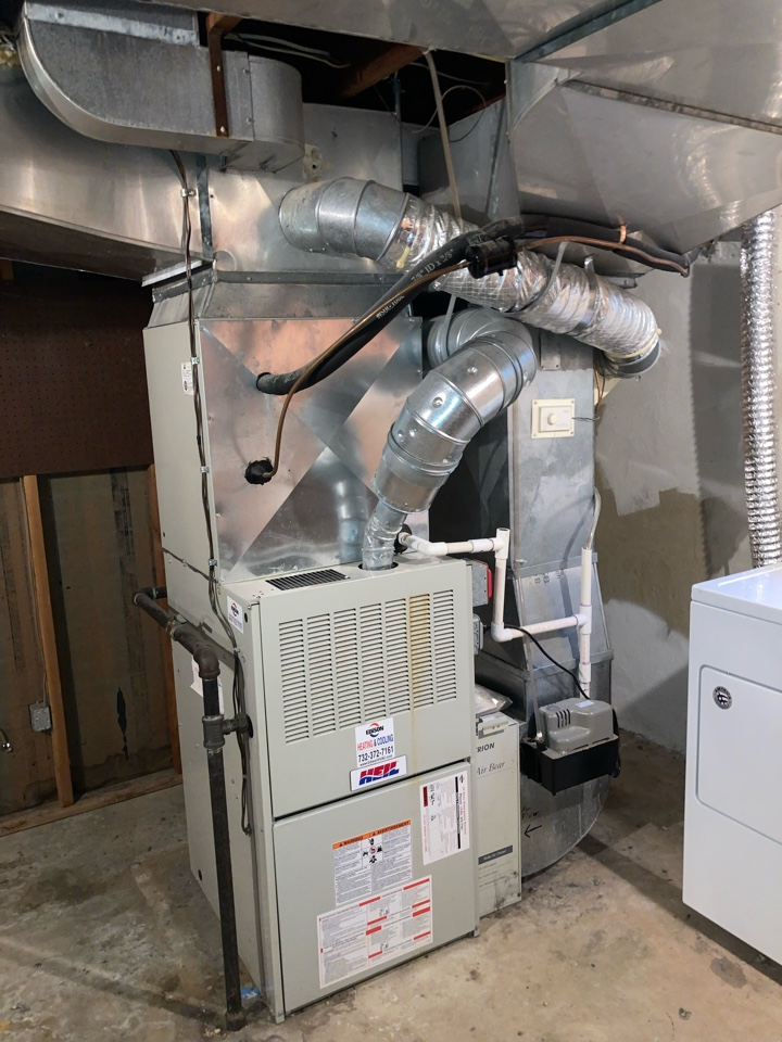 Replacement of Heil gas furnace and air conditioning system in Westfield.