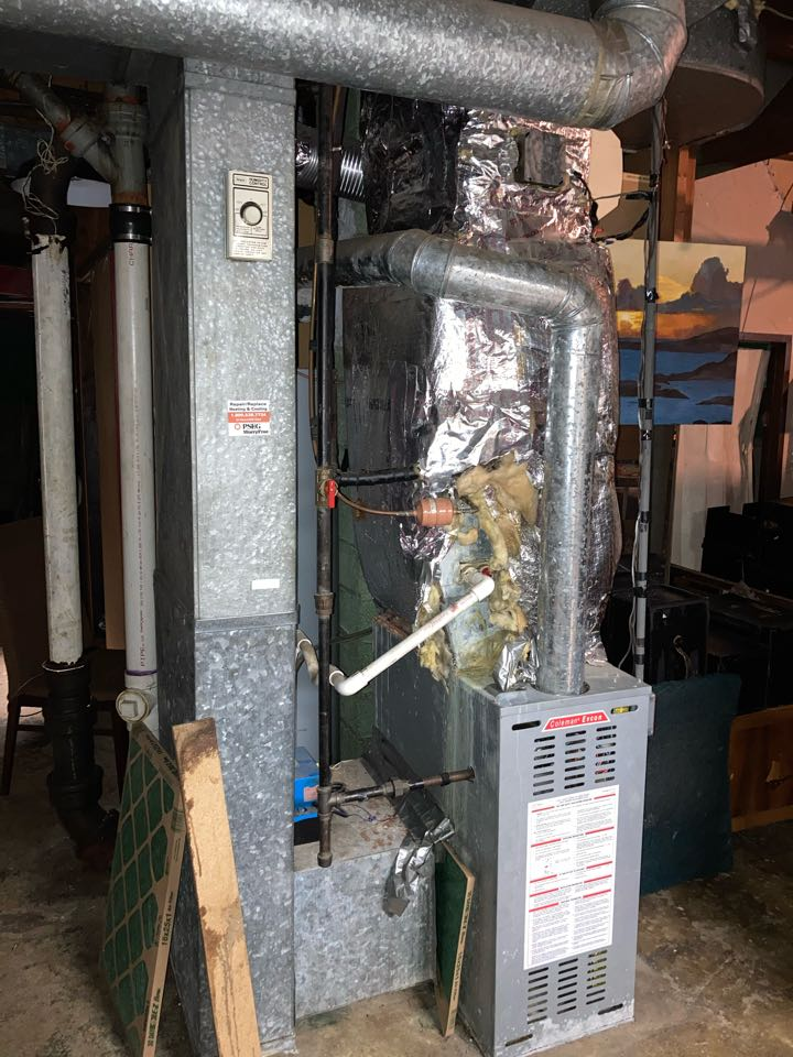 South Plainfield, NJ - Replacement of Coleman gas furnace and air conditioning system.