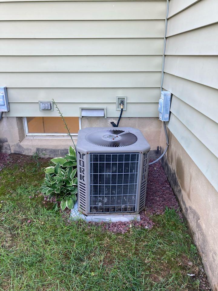 Basking Ridge, NJ - Replacement of York central air conditioning system in Basking Ridge.