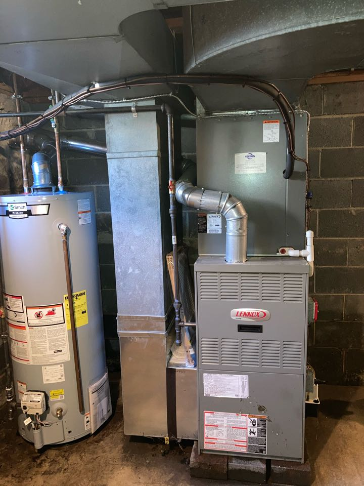 Replacement of Lennox gas furnace in Edison.