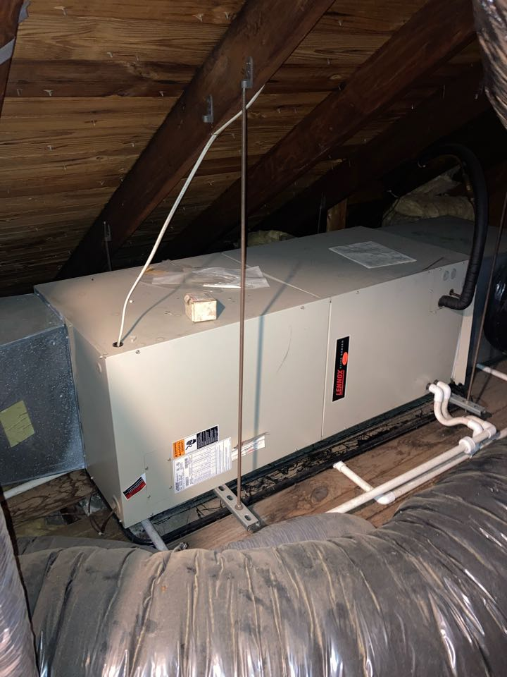 Clark, NJ - Replacement of Lennox central air conditioning system in Clark.