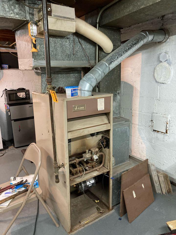 Elizabeth, NJ - Replacement of Janitrol gas furnace in Elizabeth.