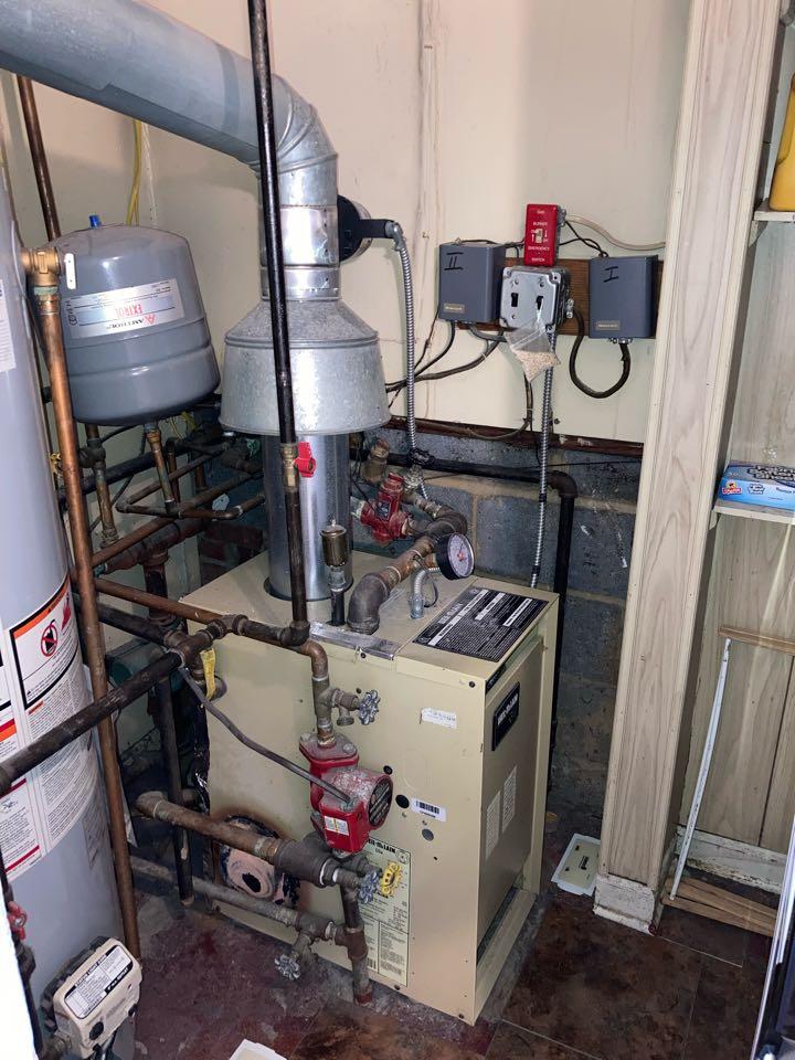 Scotch Plains, NJ - Replacement of Weil McLain 2 zone hot water boiler in Scotch Plains.