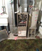 Oakdale, PA - Removing and old Furnace and installing a New Furnace in Oakdale Pa.