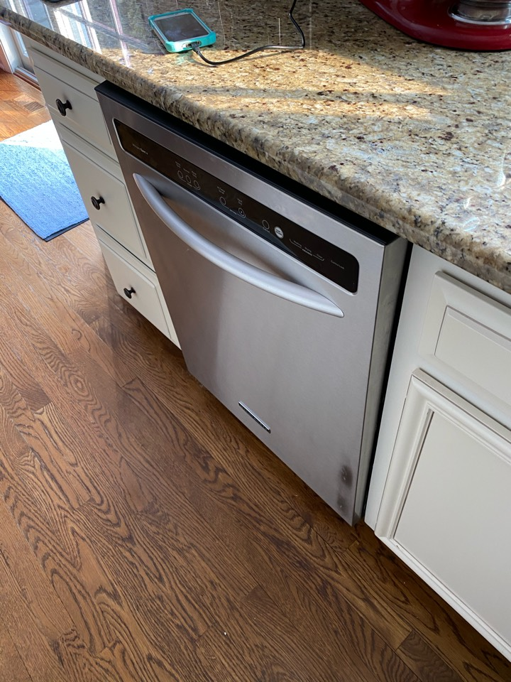 Replace broken door cable and pulley assembly on KitchenAid dishwasher
