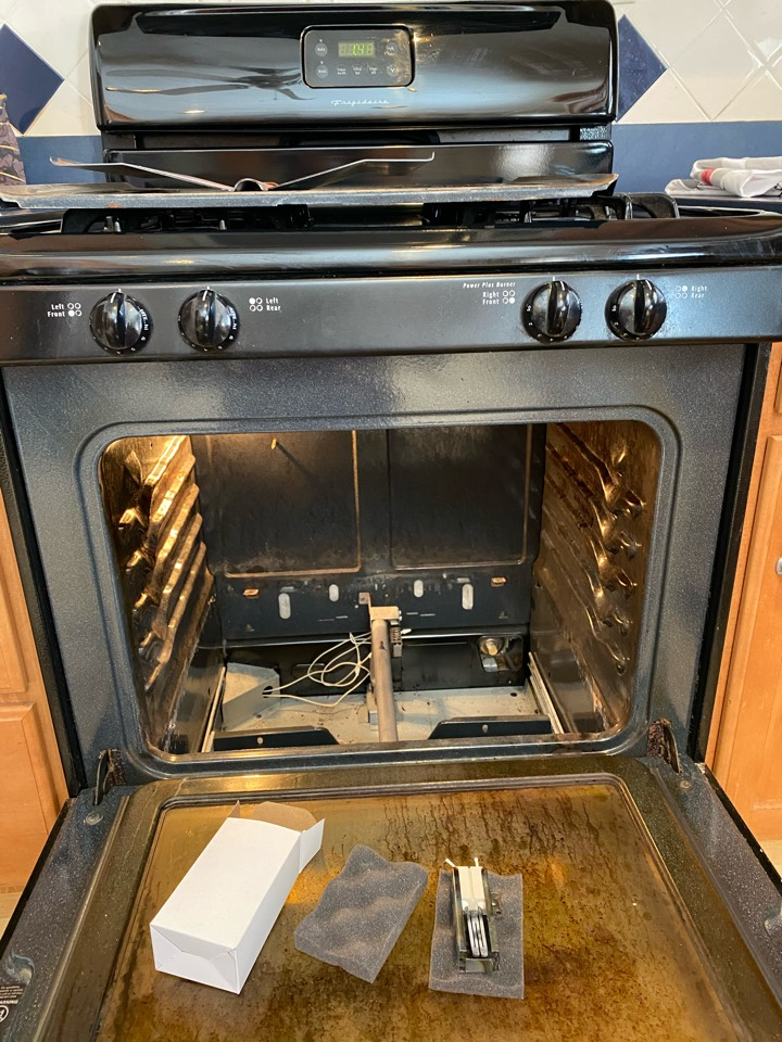 Replaced oven start igniter on Frigidaire stove.