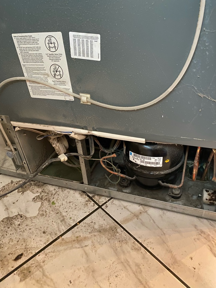Replaced start relay assembly on Maytag refrigerator that was not cooling.