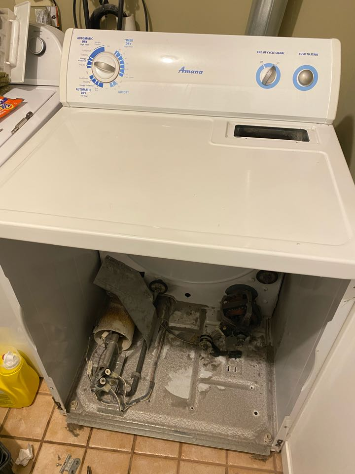 Bartlett, IL - Replaced operating coils on gas valve for Amana dryer that had no heat.