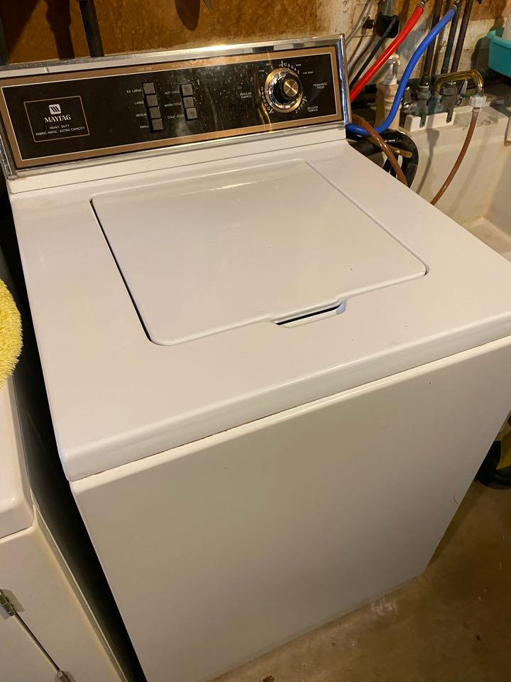 Replaced worn out belts on Maytag washer.