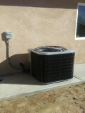 Apple Valley, CA - 1/17/17.  Apple valley. Residential home. New construction. Installing two day and night condensing units