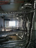 Victorville, CA - 1/31/17. Hesperia. Church. Installing r-8 ducting. Day and night equipment.