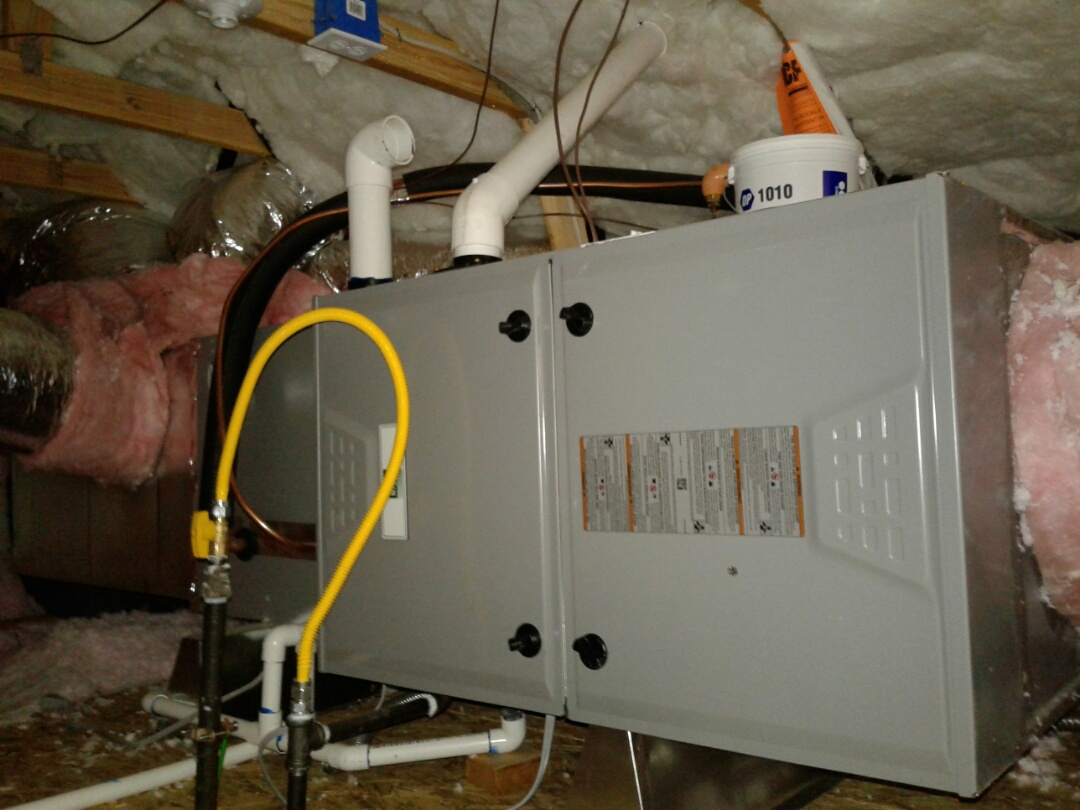 Victorville, CA - Installed new heating and air conditioning Day and Night equipment