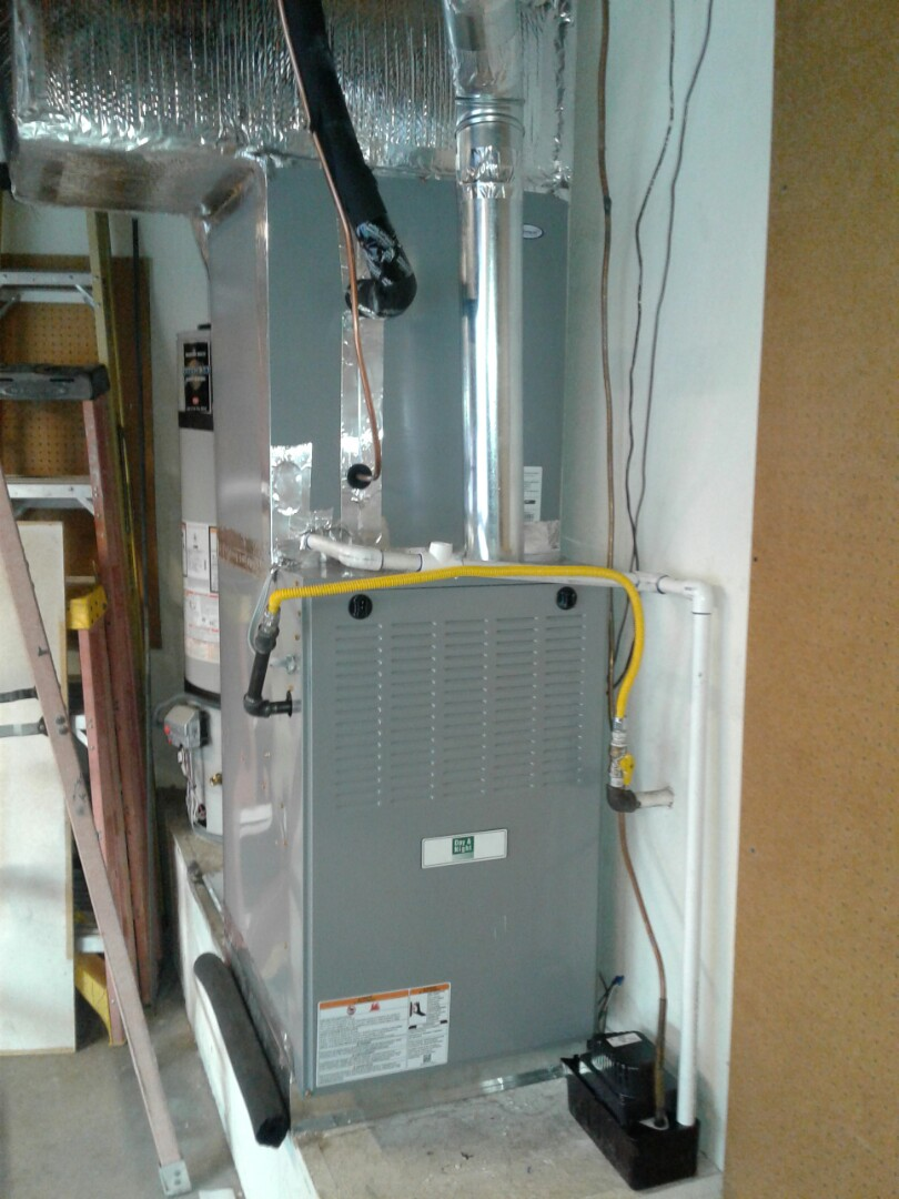 Victorville, CA - Installed new day and night furnace indoor coil,  and 5 ton 410A condensing air conditioning system.