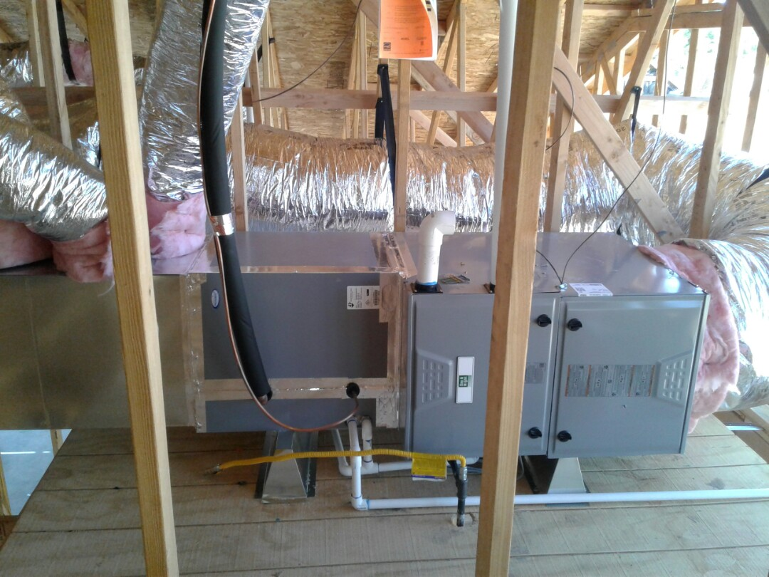 Hesperia, CA - New house being built. Installed all new R-8 duct work. 4 ton 96% fau with 4 ton 410 air conditioning coil