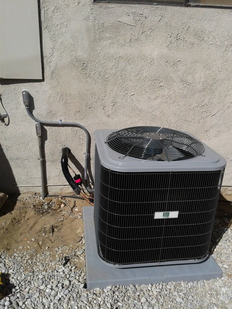 Hesperia, CA - Installed by Greg Taylor... A 2.5 ton Day and Night 410A condenser. With custom electrical piping to electric panel.