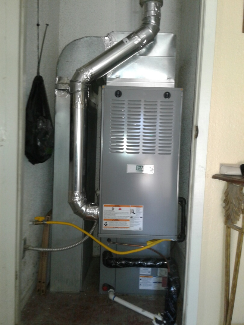 Hesperia, CA - Installed new 3 ton day and night heater with 3 ton day and night 410 air conditioning system