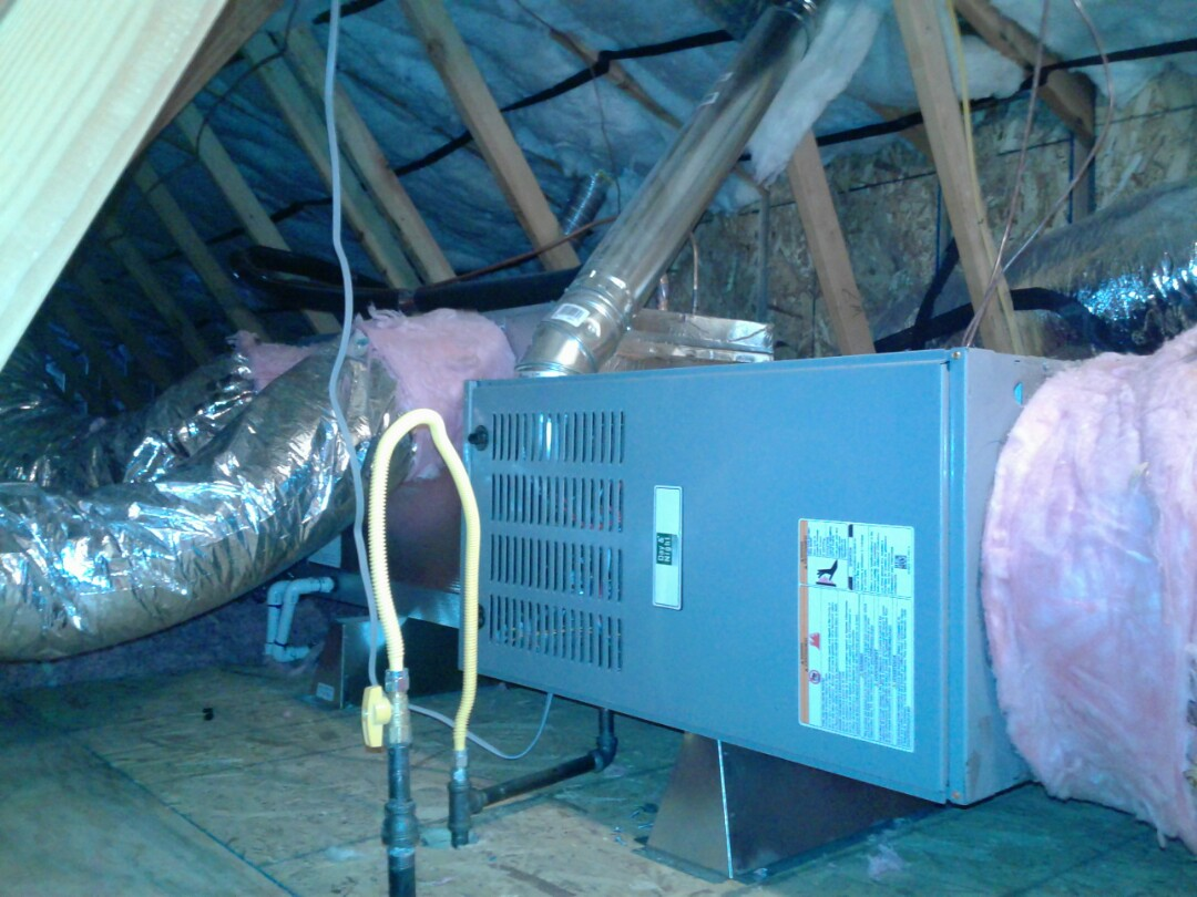 Victorville, CA - Installed new 4 ton day and night 80% heater and 4 ton 410A Day and night air conditioning system
