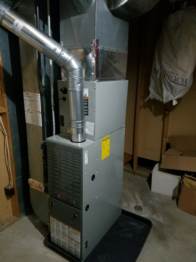 Spring Lake, MI - Replacing a furnace with a new trane !