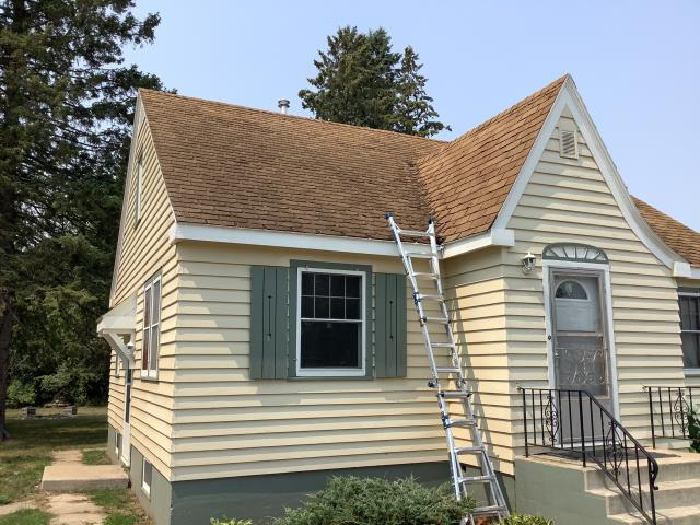 Sebeka, MN - Doing an estimate to replace this roof in Sebeka, MN with new GAF Timberline HDZ shingles!