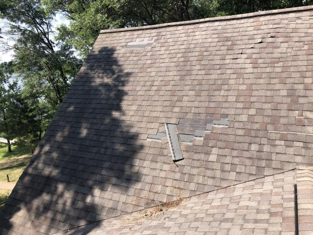 Brainerd, MN - Doing an estimate on this roof in Nisswa, MN to replace it with new GAF Timberline HDZ shingles!