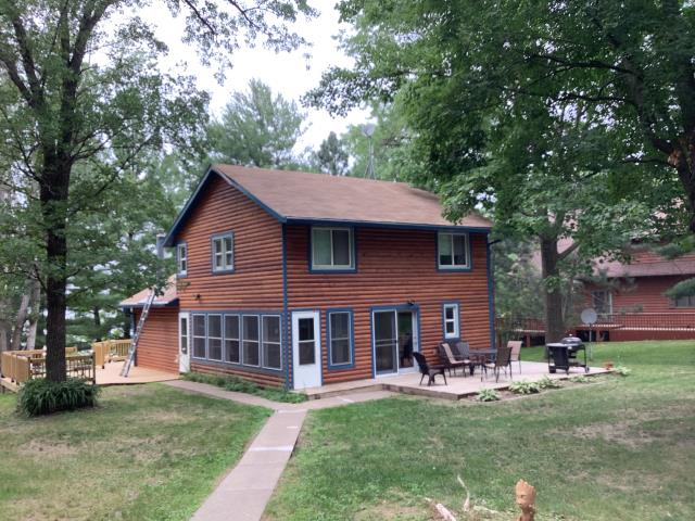 Brainerd, MN - Doing an estimate to replace a metal roof on this cabin in Brainerd, MN.