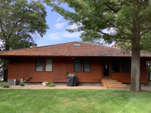 Merrifield, MN - We did a new cedar shake roof on this home in Merrifield, MN.