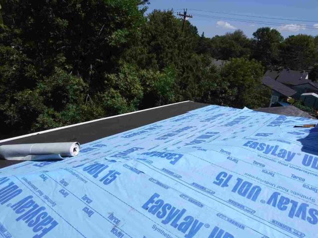 Brainerd, MN - Working on the roof today.  Installing a new GAF Timberline HD shingled roof in Brainerd, MN.