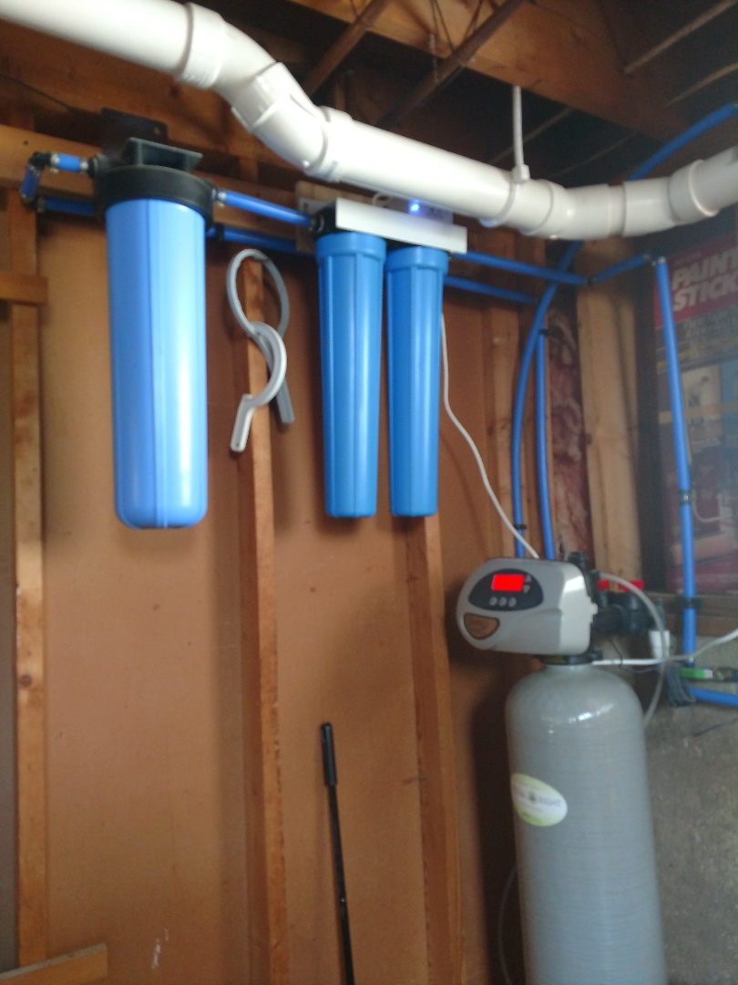 Annual maintenance! UV, water filters and water softener!