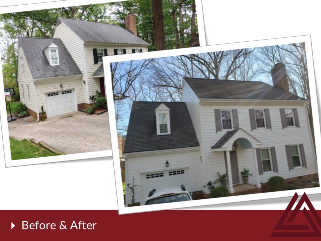 Cary, NC - Beautifully Done! James Hardie Color Plus Cedarmill  installed by Triangle Home Exteriors for this happy customer!