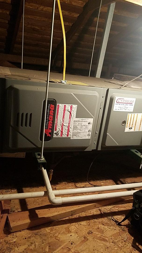 Altadena, CA - Cypress tune up service to Amana furnace.
