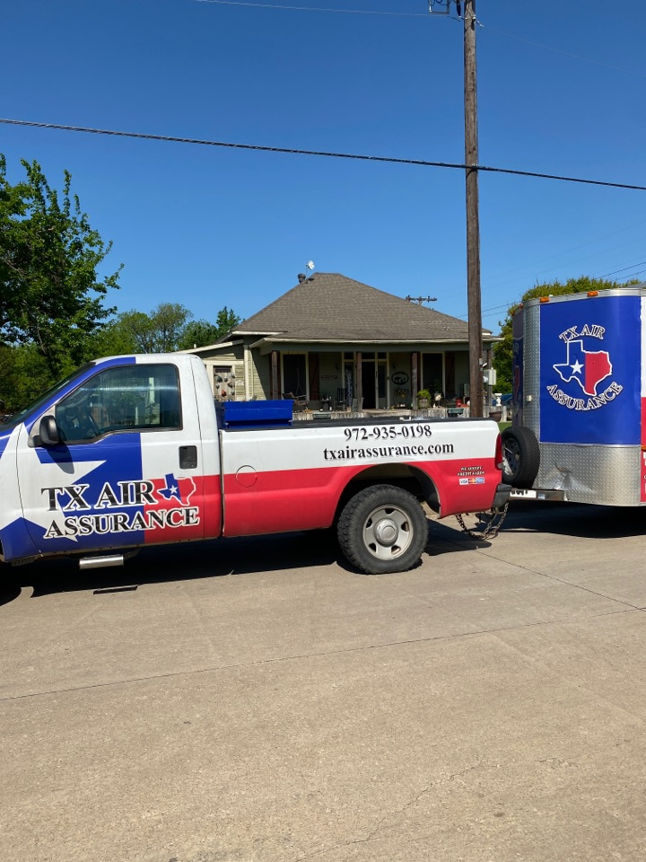 Ferris, TX - Tx Air Assurance is out here in Ferris taking care of a great family. Getting their AC serviced and dryer vent cleaned.