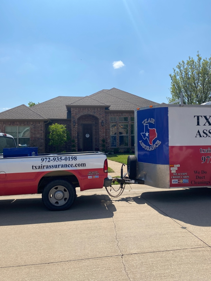 Waxahachie, TX - Another ac service and dryer vent cleaning are done for a great family here in Waxahachie Texas. Get your ac maintenance done before the summer heat is here.