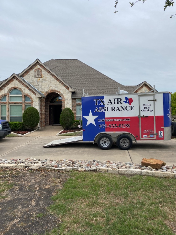 Waxahachie, TX - Out here in waxahachie Texas doing an ac maintenance and air duct cleaning for a great family.