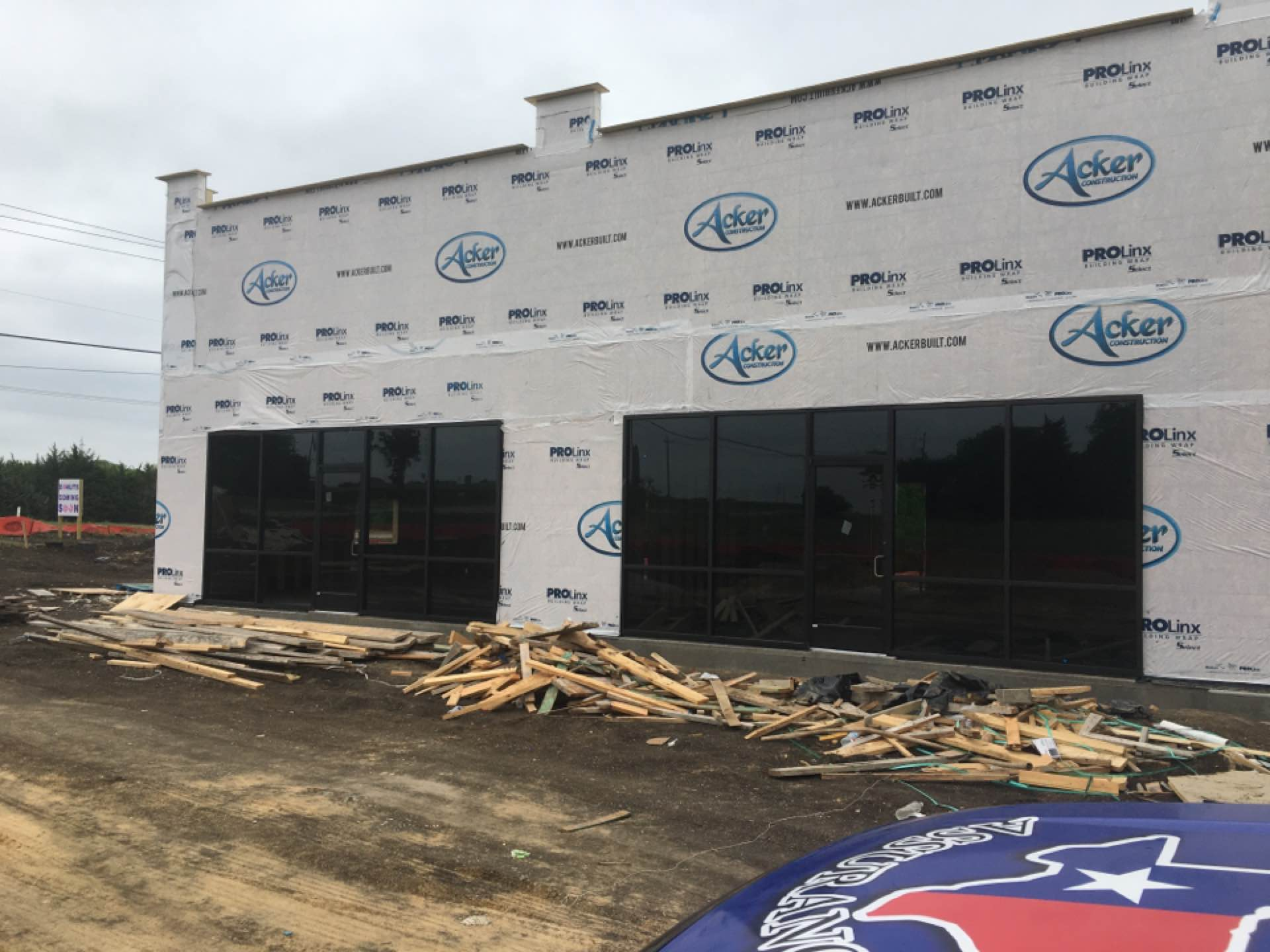 Red Oak, TX - Checking in on rough HVAC install at a new donut shop in Red Oak, TX