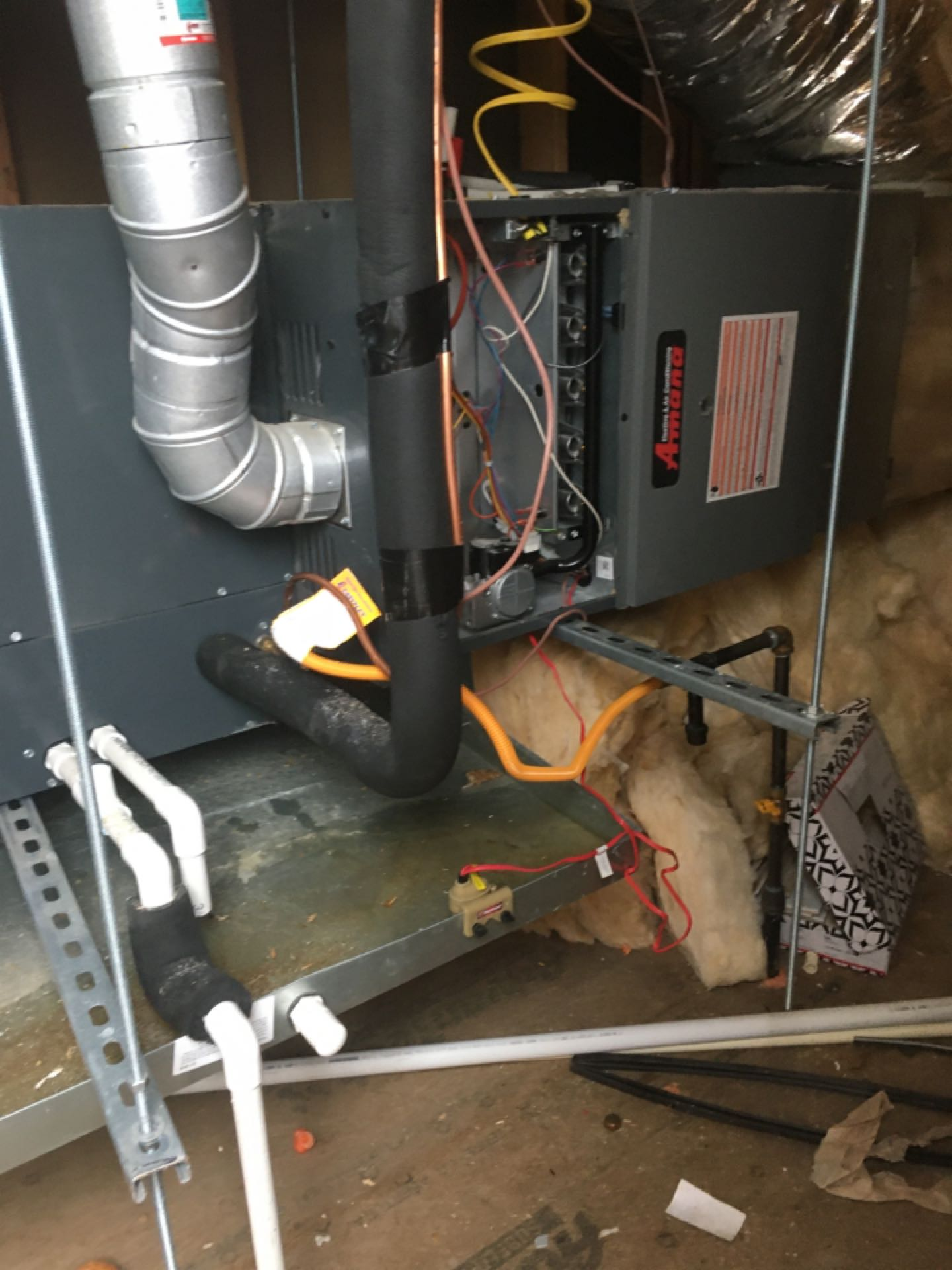 Dallas, TX - Here in cedar springs checking an Amana condenser and furnace out before inspection tomorrow.
