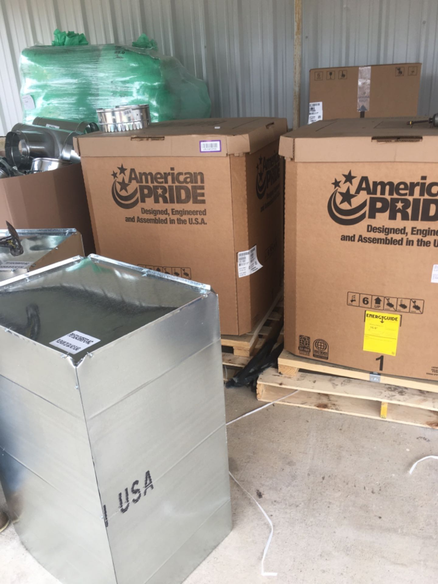 Point, TX - About to install (2) 18seer Amana furnace and coil full cooling and heating systems in a warehouse in Point Tx
