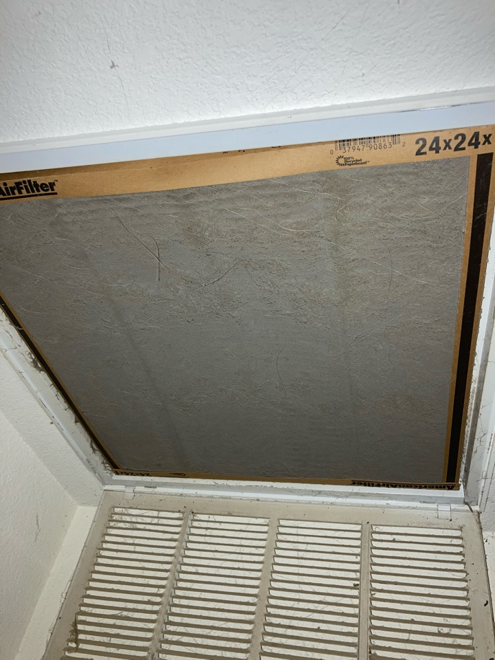 Changed a dirty filter for a customer in Trumbull Tx.