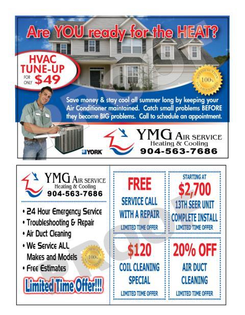 Jacksonville, FL - Created for YMG Air Service HVAC Postcards