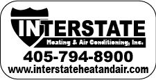 Oklahoma City, OK - Created HVAC Weatherproof Thermostat Stickers for Interstate Heating & Air Conditioning