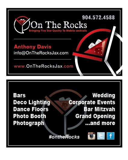 Fernandina Beach, FL - Created Business Cards for On The Rocks.