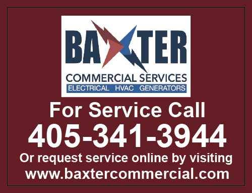 Edmond, OK - Created HVAC custom Residential & Commercial Stickers for Baxter Commercial Services.