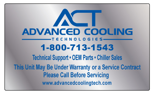 Livermore, CA - Created a HVAC Brushed Chrome Polyester Stickers for Advanced Cooling Technologies