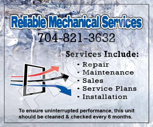 Indian Trail, NC - Designed new HVAC Vinyl Stickers for Reliable Mechanical Services