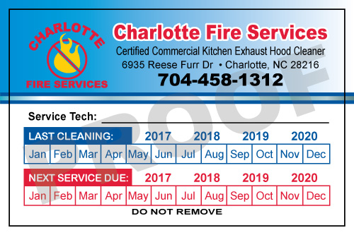 Charlotte, NC - Created Hood Paper Stickers for Charlotte Fire Services