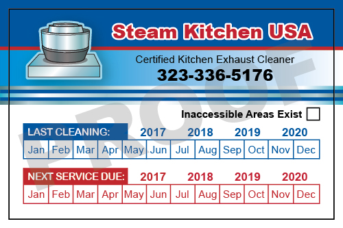Los Angeles, CA - Artwork completed for Hood Stickers for Steam Kitchen USA