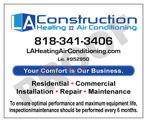 Woodland Hills, CA - Created HAVC Stickers for LA Contruction Heating