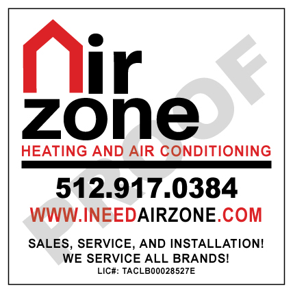 Buda, TX - Fulfilled print reorder of HVAC Custom Stickers for Air Zone Heating & A/C +