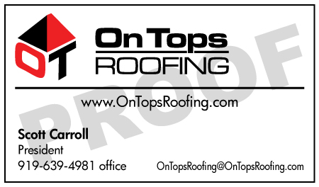 Angier, NC - On Tops Roofing order more business cards